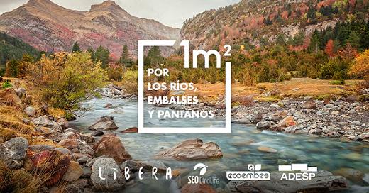 1 m2 por los ríos embalses y pantanos