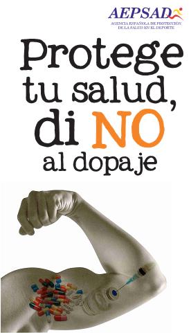 Protege tu salud, di NO al dopaje